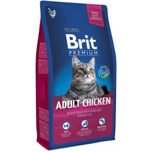 Brit Premium Сat adult Chicken курица+печень сухой д/кошек
