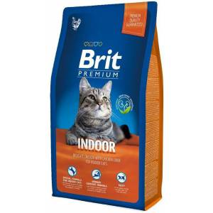 Brit Premium Сat Indoor курица и печень (для живущих в помещении) сухой для кошек